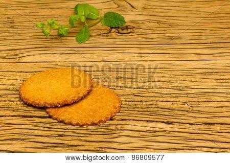 Healthy Tasty Cookies Wood Decoration