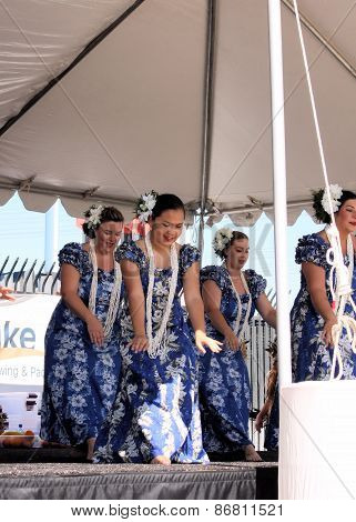 Tempe, Az/usa - March 28: Unnamed Dancers Perform At The Dragon Boat Festival At Tempe Town Lake Tem
