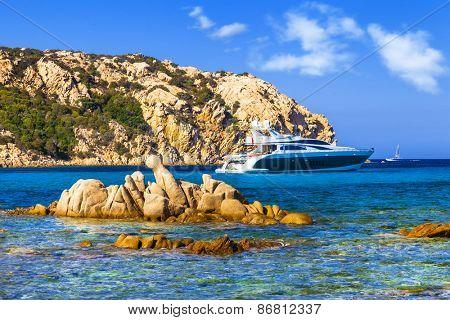 luxury vacation on Sardegna island. Italy