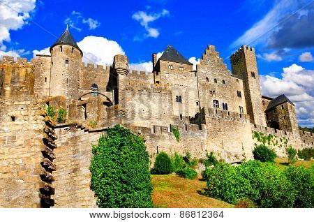 Carcassonne - biggest fortress in Europe, France
