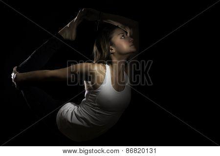 Yoga Natarajasana Variation Dancer Pose Color