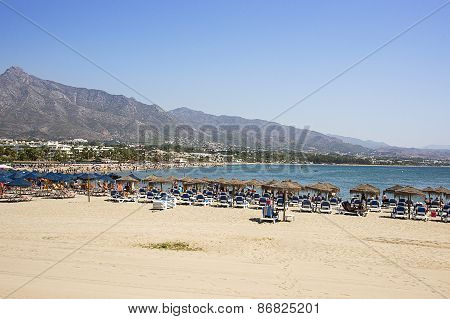Beach In The Puerto Banus