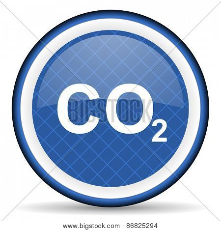 carbon dioxide blue icon co2 sign  poster