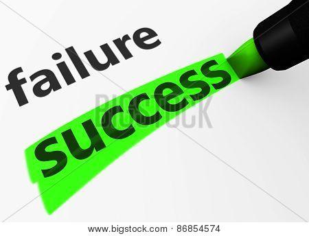 Business Success Vs Failure Concept