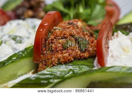 Kisir - traditional side dish in Turkish cuisine