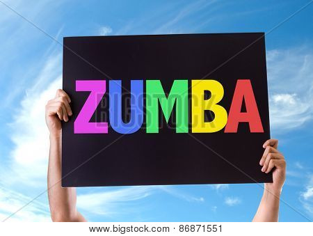 Zumba card with sky background