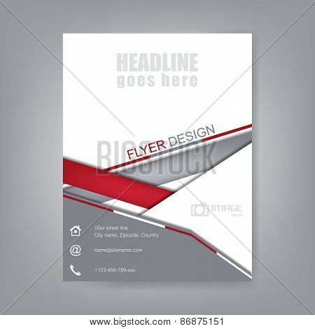 Business flyer, brochure template or corporate banner