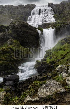 Dynjandi, A Waterfall In Iceland
