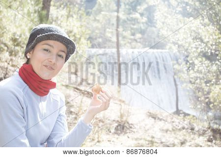 Young Woman Having A Snack