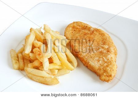Fried Potatoes And Chicken
