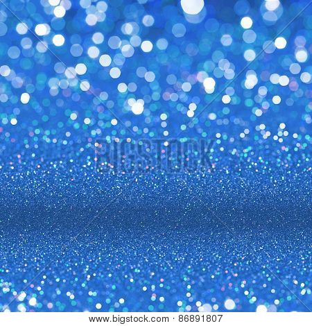 Abstract blue background. Blue glitter texture background.
