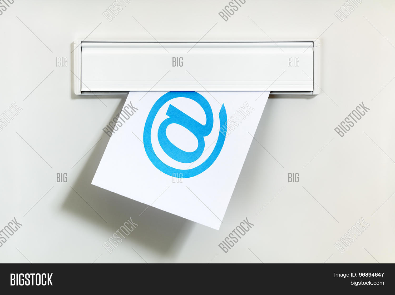E Mail Symbol On Image Photo Free Trial Bigstock