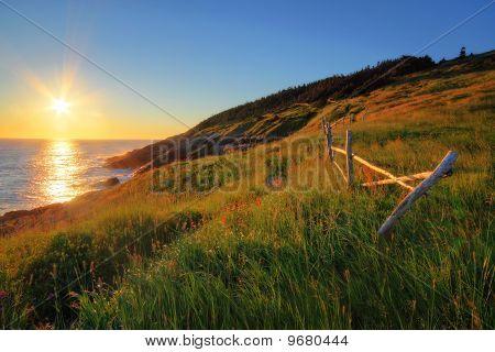 Sunrise by the Ocean