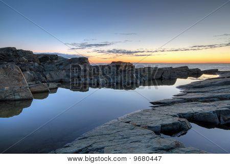 Newoundland Coastline at Sunrise