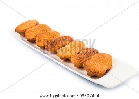 Kuih bahulu, a popular traditional Malay sweet sponge bun