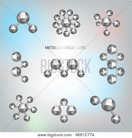 Metallic molecular objects