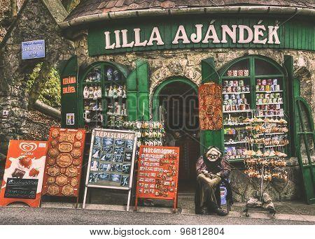Souvenir shop in Lillafured, Hungary