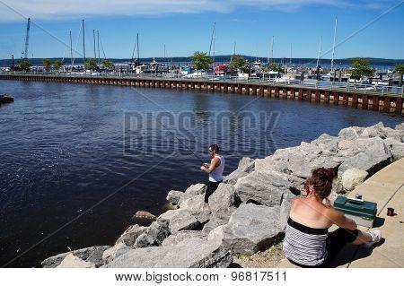 Fishing in Bayfront Park