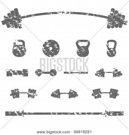 A Set Of Sports Equipment, Vector Illustration.