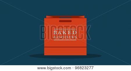 Flat Shopping Bag For Bakery, Cafe Or Restauarnt