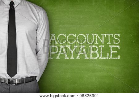Accounts payable text on blackboard