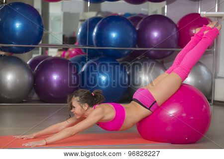 Flexible Young Fitness Woman