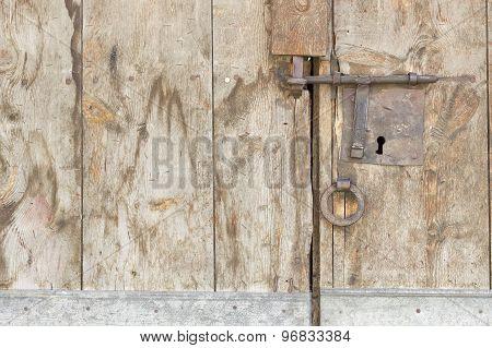 Vintage rusty lock