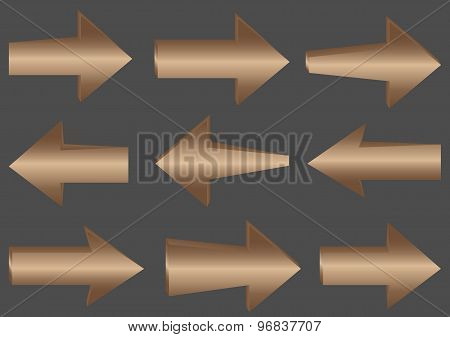 Wooden vector arrows