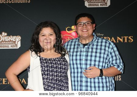LOS ANGELES - JUL 24:  Raini Rodriguez, Rico Rodriguez at the