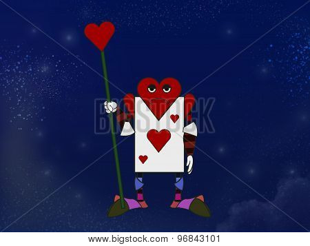 Playing Card Of Hearts Character