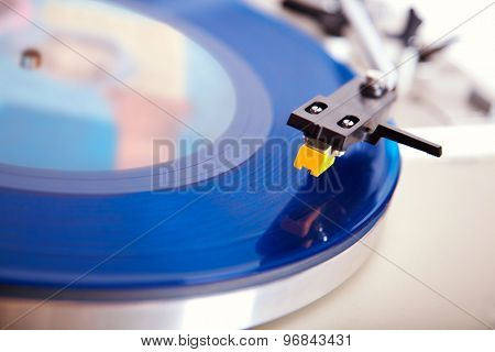 Analog Stereo Turntable Vinyl Blue Record Player Headshell Cartridge