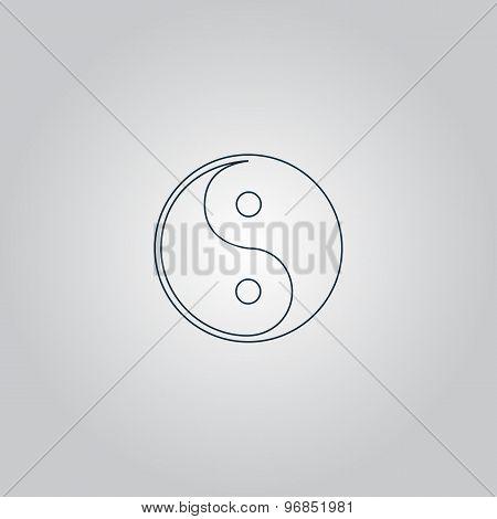 Ying-yang icon of harmony and balance