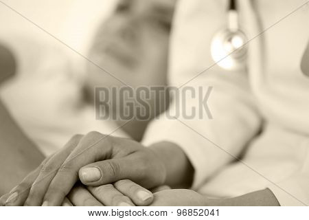 Friendly Female Doctor Hands