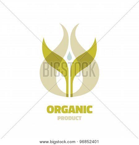 Organic - vector logo concept illustration. Ecology logo. Leafs logo. Bio logo. Nature logo.
