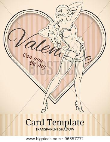 Valentine Retro Card