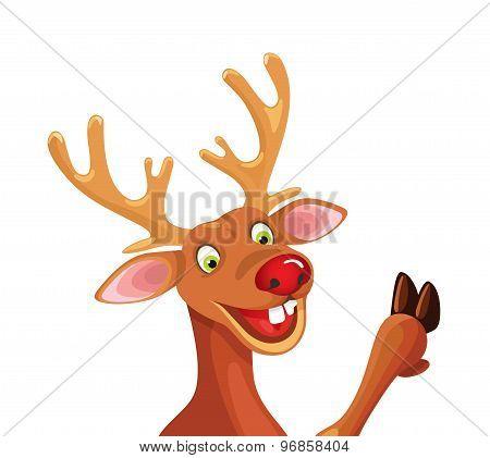 Rudolph Happy Christmas Reindeer