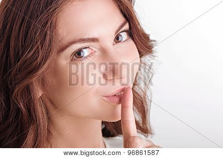 Nice girl keeping silence