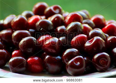 Image Of The Dark Red Cherries