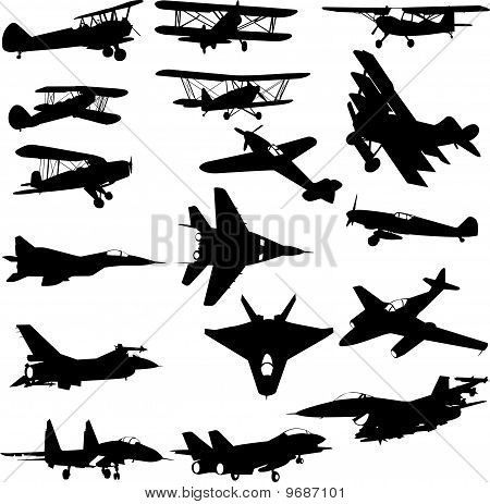 Military Airplane vector