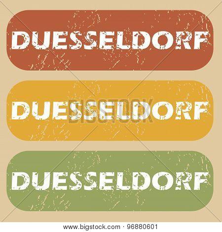 Vintage Duesseldorf stamp set