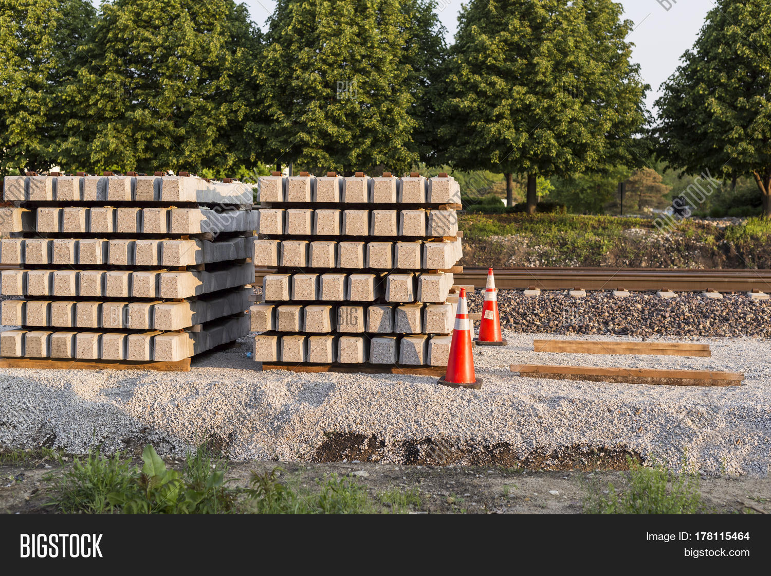 Stack Railroad Ties Image & Photo (Free Trial) | Bigstock