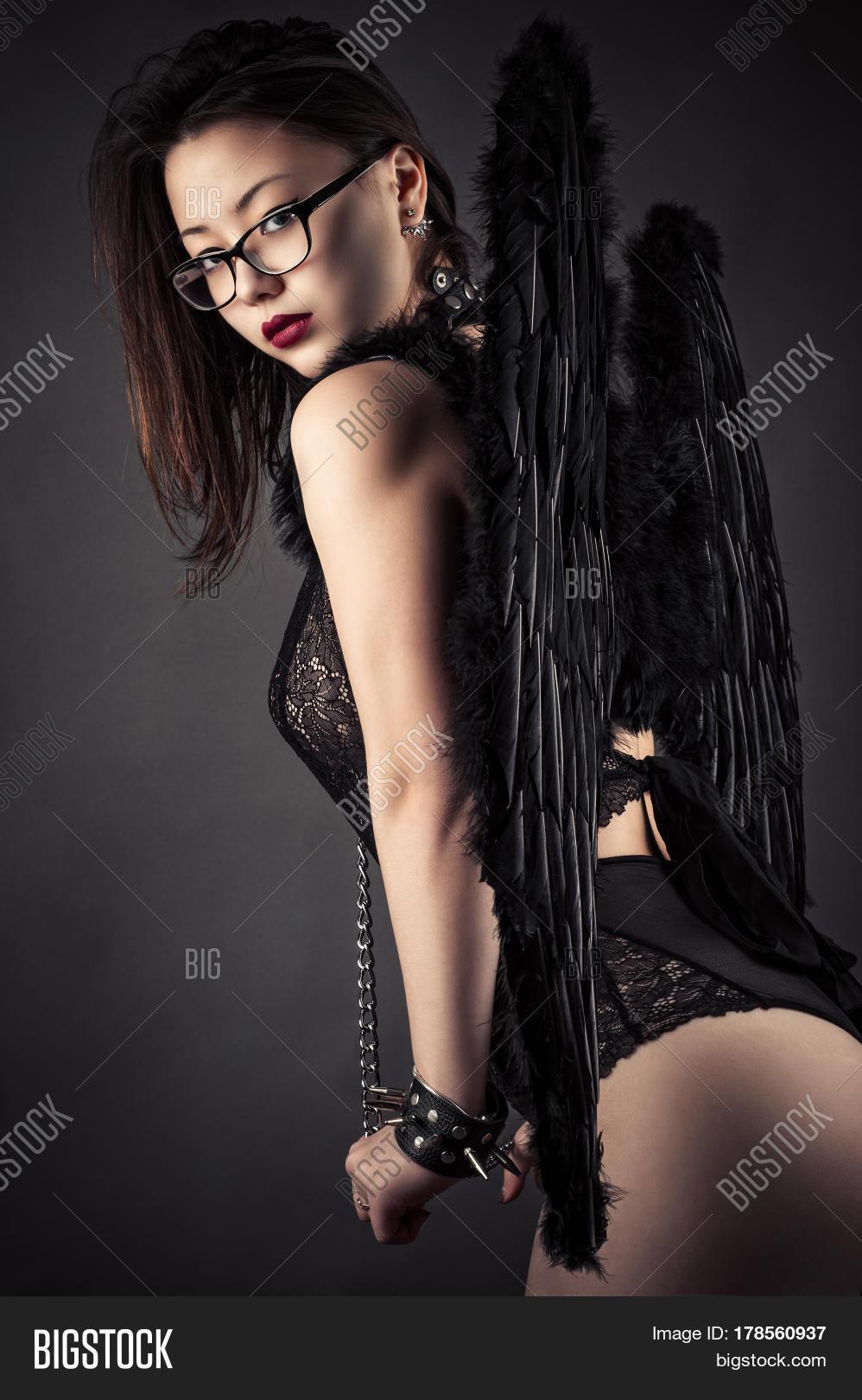 Sexy Beautiful Korean Girl With Angel Wings