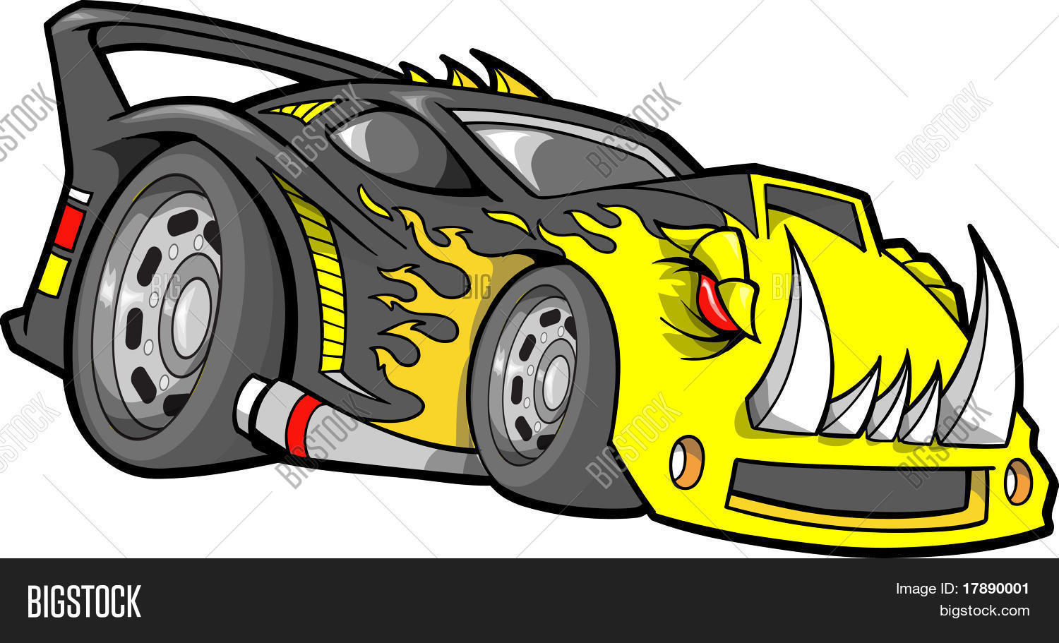 Hot-Rod Race-Car Vector & Photo (Free Trial) | Bigstock