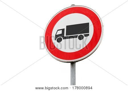 Freight Transport Traffic Is Prohibited, Road Sign