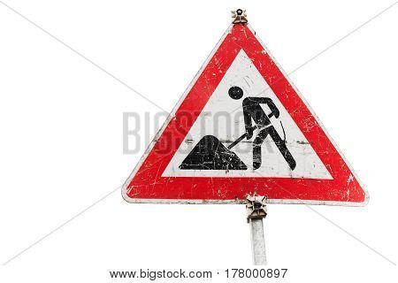 Roadworks, Under Construction, Men At Works Sign