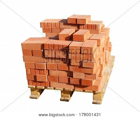 Red brick is made from clay and fired in a fire.