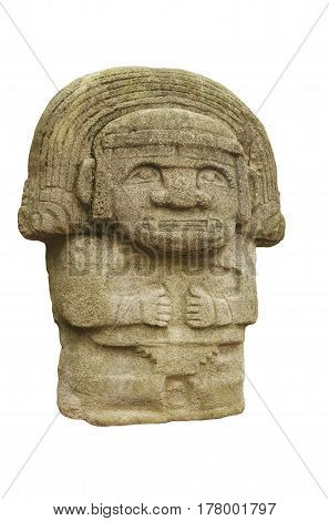 Stone statues of the idols of Mexican Mayansthe ancient Indians.