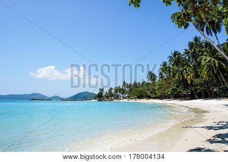 Paradise Tropical Beach on Samui Island in Thailand