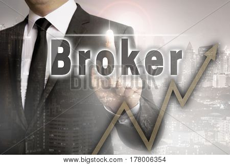 Broker is shown by businessman concept picture