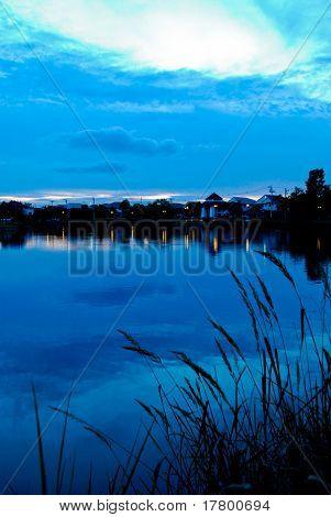 Lake of village